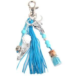 Blauw DIY Sleutelhanger Ibiza Aqua