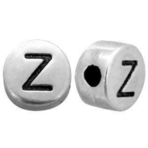 Zilver Kraal letter 'Z' Ø2mm Zilver DQ 7mm
