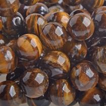 Bruin Half edelsteen Tijgeroog rond 10mm