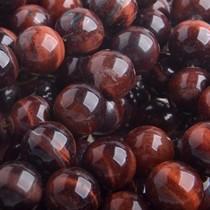 Rood Half edelsteen Tijgeroog Rood rond 10mm