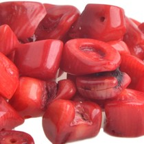 Rood Natuursteen chips Koraal rood 5-15mm - 25 gram