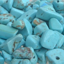Turquoise Natuursteen chips Turquoise 5-8mm - 25 gram