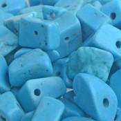 Blauw Natuursteen chips Turquoise blauw 5-8mm - 25 gram