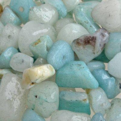 Groen Natuursteen chips Amazoniet 4-11mm - 25 gram