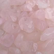 Roze Natuursteen chips Rose Quartz 5x8mm - 25 gram