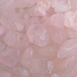 Roze Natuursteen chips Rose Quartz 5x8mm - 25 gram