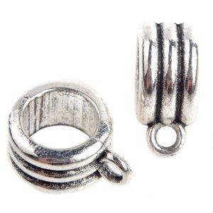 Zilver Kraal met oog strepen Ø7mm Zilver