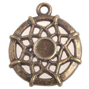 Antiek Goud Brons Bedel Dreamcatcher Brons 21mm