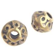 Antiek Goud Brons Kraal bicone Brons 7.5x6mm