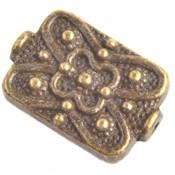 Antiek Goud Brons Kraal rechthoek Brons 18x12mm