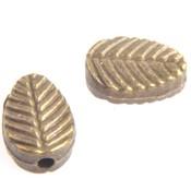 Antiek Goud Brons Kraal blaadje Brons 8.5x6mm - 8 stuks