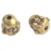 Antiek Goud Brons Kraal buddha Brons 10mm