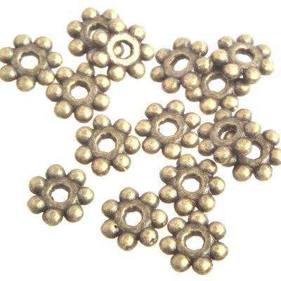 Antiek Goud Brons Kraal spacer bali ring Brons 4x1.5mm - 50 stuks