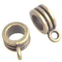 Antiek Goud Brons Kraal met oog Ø4mm Brons 12.5x5mm - 3 stuks