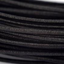 Zwart Elastiek zwart 1mm - 7,5 meter