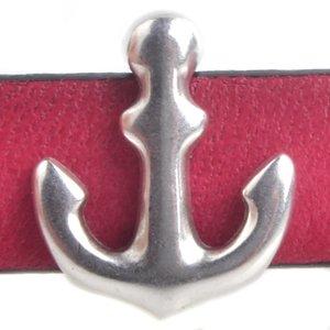Zilver Leerschuiver anker Ø10x2.5mm Zilver DQ