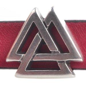 Zilver Leerschuiver triangel Ø10x2.5mm Zilver DQ