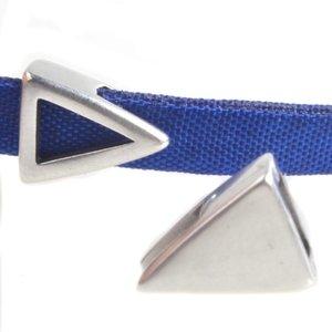 Zilver Leerschuiver driehoek Ø5x2.5mm Zilver DQ