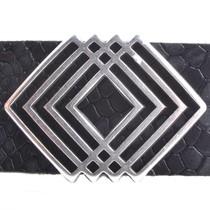 Zilver Leerschuiver geo Ø20x2.5mm Zilver DQ