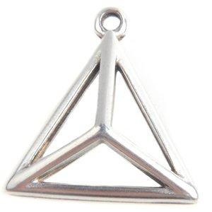 Zilver Bedel piramide Zilver DQ 17mm