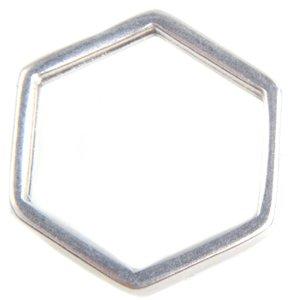 Zilver Ring hexagon Zilver DQ 16mm