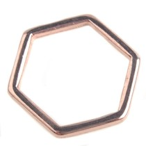 Rosegoud Ring hexagon Rosegoud DQ 16mm