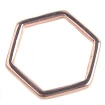 Rosegoud Ring hexagon Rosegoud DQ 16mm