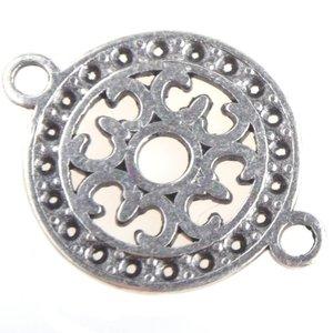 Zilver Tussenzetsel filigraan rond 15mm Zilver DQ
