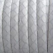Grijs Imitatie leer Bamboo wit grijs 6x4mm - prijs per 20cm