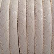Bruin Imitatie leer Reptiel beige grijs 6x4mm - prijs per 20cm