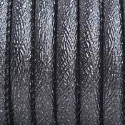 Grijs Imitatie leer Glitter antraciet grijs 6x4mm - prijs per 20cm