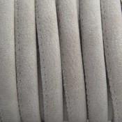 Bruin Imitatie leer Vintage beige grijs 6x4mm - prijs per 20cm