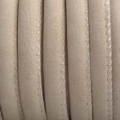 Bruin Imitatie leer Silk beige 6x4mm - prijs per 20cm