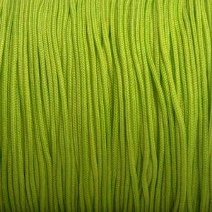 Groen Nylon rattail koord lime groen 1mm - 6 meter