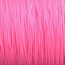 Roze Nylon rattail koord licht fluor roze 1mm - 6 meter