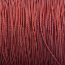 Bruin Nylon rattail koord rood bruin 1mm - 6 meter