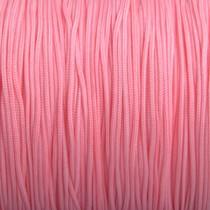 Roze Nylon rattail koord licht roze peach 1mm - 6 meter