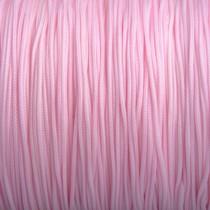 Roze Nylon rattail koord licht roze 1mm - 6 meter