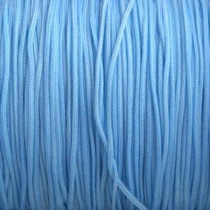 Blauw Nylon rattail koord licht blauw 1mm - 6 meter
