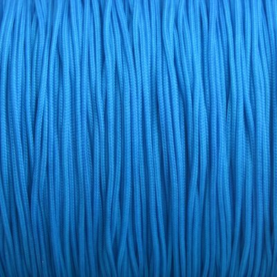 Blauw Nylon rattail koord aqua blauw 1mm - 6 meter