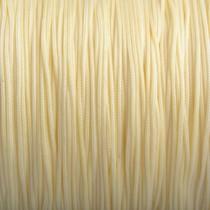 Geel Nylon rattail koord licht geel 1mm - 6 meter