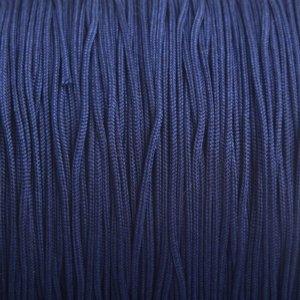 Blauw Nylon rattail koord donker blauw 1mm - 6 meter