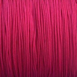 Roze Nylon rattail koord fuchsia roze 1mm - 6 meter
