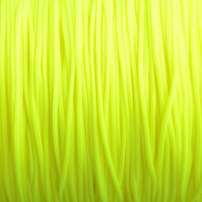 Geel Nylon rattail koord fluor geel 1mm - 6 meter