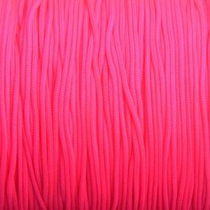 Roze Nylon rattail koord Fluor roze 1mm - 6 meter