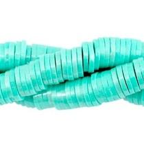 Turquoise Katsuki kralen pearl coated Turquoise green 4mm - ±70 stuks
