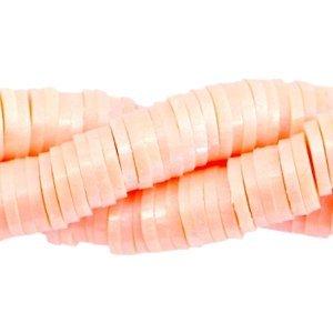 Oranje Katsuki kralen XL verpakking pearl coated Peach orange 4mm - ±425 stuks
