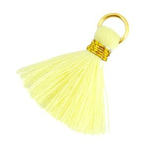 Geel Ibiza kwastje Goud-Tender yellow 20mm