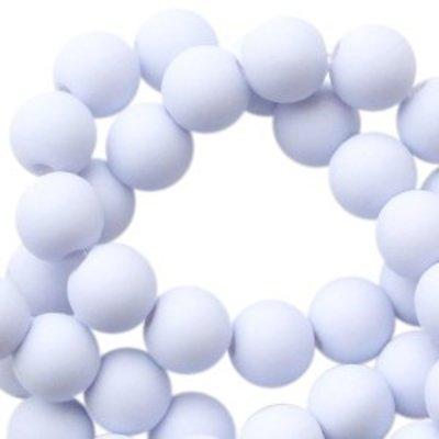 Blauw Acryl kralen Light soft blue 8mm - 50 stuks