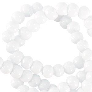 Grijs Opaque glaskraal rond Soft grey 3mm - 125 stuks